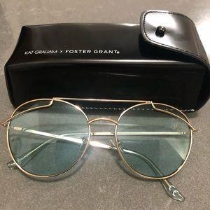Light blue tint aviators sunglasses